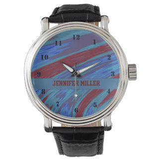 Red Blue Color Swish Watch