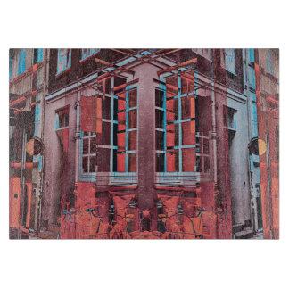 Red blue Copenhagen windows reflection digital art Cutting Board