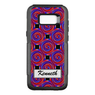 Red & Blue Counter Spiral by Kenneth Yoncich OtterBox Commuter Samsung Galaxy S8+ Case