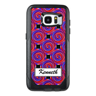 Red & Blue Counter Spiral by Kenneth Yoncich OtterBox Samsung Galaxy S7 Edge Case