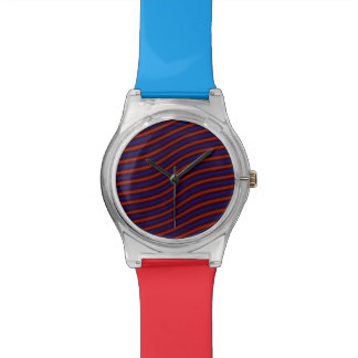 Red Blue Design Watch