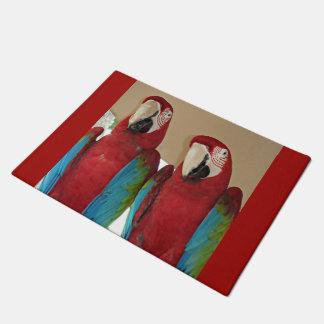 Red, Blue, Green Macaws (Parrots) Doormat
