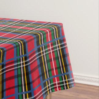 Red, Blue, green tartan design Tablecloth