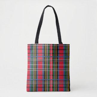 Red, Blue, green tartan design Tote Bag