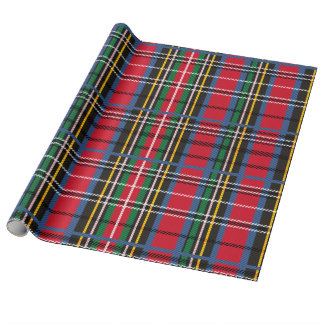 Red, Blue, green tartan Wrapping Paper