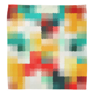 Red Blue Green Yellow White Abstract Pattern Bandana