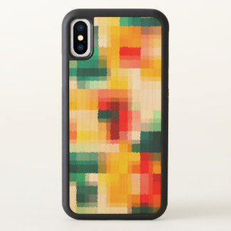 Red Blue Green Yellow White Abstract Pattern iPhone X Case