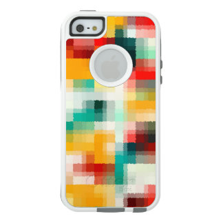 Red Blue Green Yellow White Abstract Pattern OtterBox iPhone 5/5s/SE Case