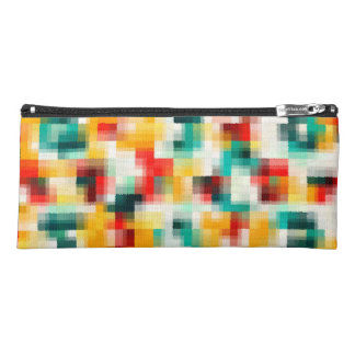 Red Blue Green Yellow White Abstract Pattern Pencil Case