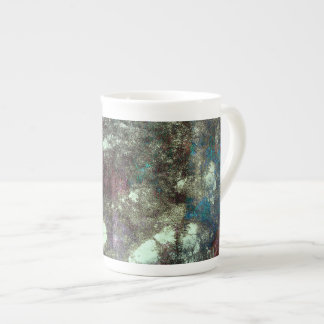Red blue grey abstract grunge graphic design art tea cup