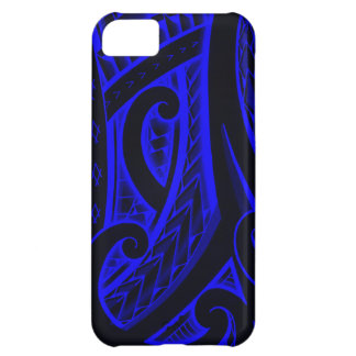 Red/Blue Maori style tribal tattoo design iPhone 5C Cover