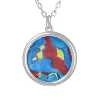 red blue necklace abstract art urban chic modern