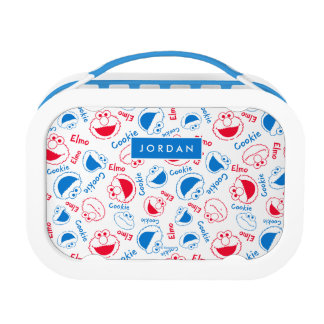 Red & Blue Pattern | Add Your Name Lunchbox