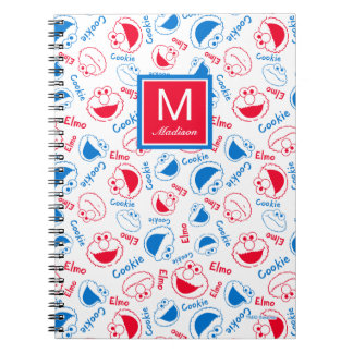 Red & Blue Pattern | Add Your Name Notebook