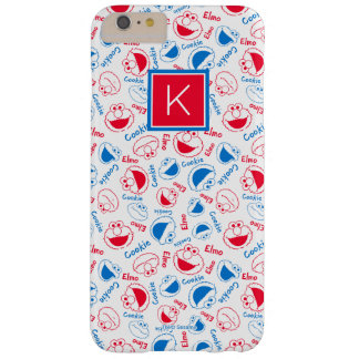 Red & Blue Pattern   Monogram Barely There iPhone 6 Plus Case