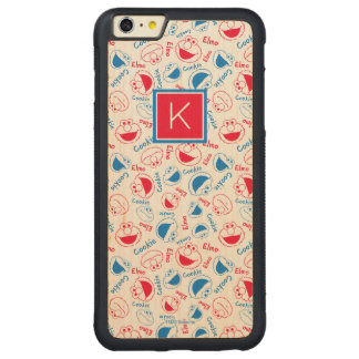 Red & Blue Pattern | Monogram Carved Maple iPhone 6 Plus Bumper Case