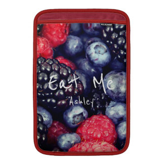 Red Blue Purple Fresh Berries Personalized Sleeve For MacBook Air