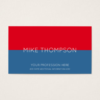 red & blue, simple, cool & modern business card