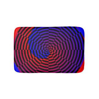 Red & Blue Spiral Bathroom Mat