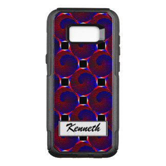 Red & Blue Spiral by Kenneth Yoncich OtterBox Commuter Samsung Galaxy S8+ Case
