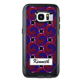 Red & Blue Spiral by Kenneth Yoncich OtterBox Samsung Galaxy S7 Edge Case