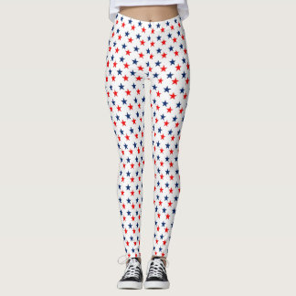 Red & Blue Stars Leggings