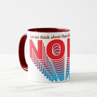 Red/Blue Super Nope Mug