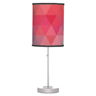 Red Blue Teal Geometric Tiangles Pattern Table Lamp