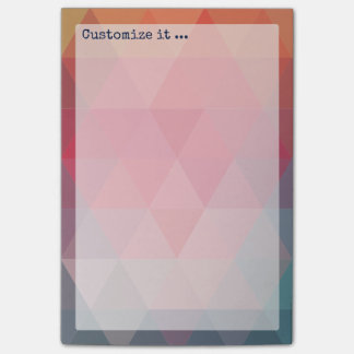 Red Blue Teal Geometric Tiangles Post-it® Notes