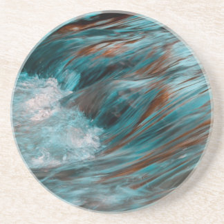 red & blue water beverage coasters