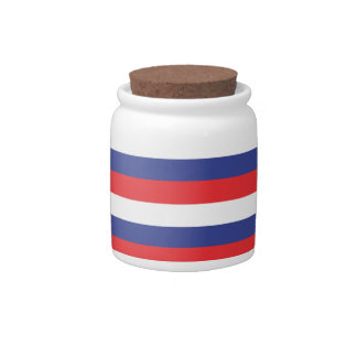 Red Blue White Candy Jar