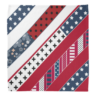 Red blue white national Patriotic background . Bandana
