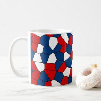 Red Blue White Pattern Coffee Mug