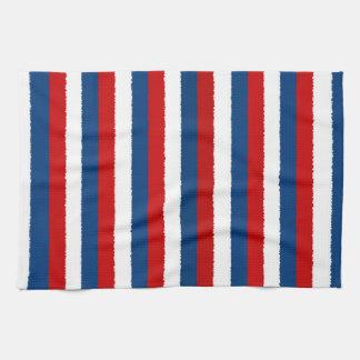 Red Blue White Pattern Kitchen Towel