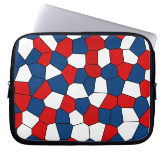 Red Blue White Pattern Laptop Sleeve