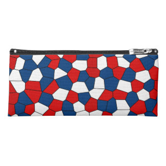 Red Blue White Pattern Pencil Case