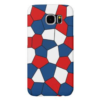 Red Blue White Pattern Samsung Galaxy S6 Case