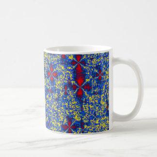 Red Blue Yellow Natural Fractal Mug