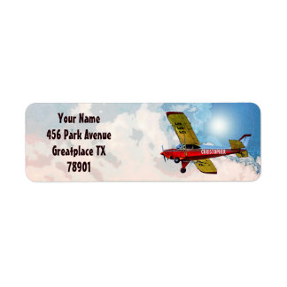 Red Blue Yellow Personal Aircraft With Your Name