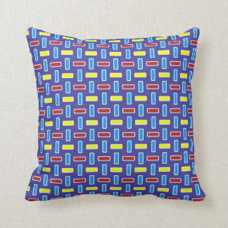Red Blue Yellow Rectangles Weave 2 ©AH2017 Throw Pillow