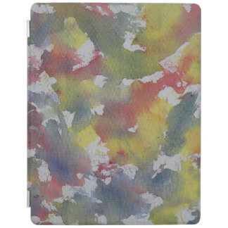 Red Blue Yellow Watercolor iPad Cover