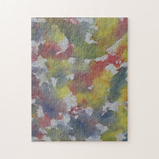 Red Blue Yellow Watercolor Jigsaw Puzzle