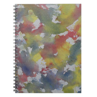Red Blue Yellow Watercolor Notebook
