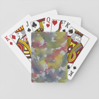 Red Blue Yellow Watercolor Playing Cards