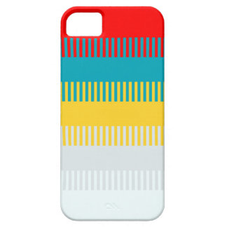 Red Blue Yellow White Gray Chic Unique Pattern iPhone 5 Cover