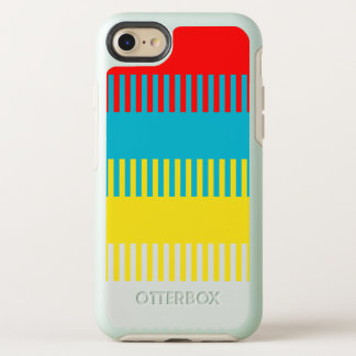 Red Blue Yellow White Gray Chic Unique Pattern OtterBox Symmetry iPhone 8/7 Case