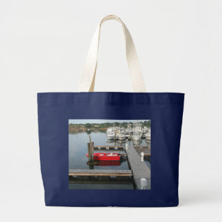 Red boat at Gloucester Bags