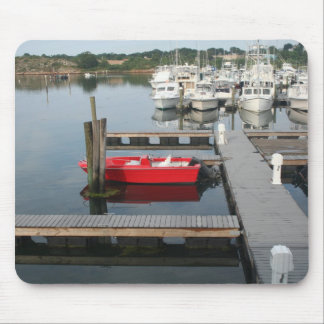 Red boat at Gloucester Mouse Pad