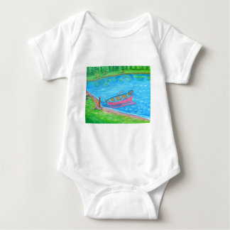 red Boat Baby Bodysuit