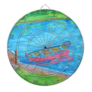 red Boat Dartboard With Darts